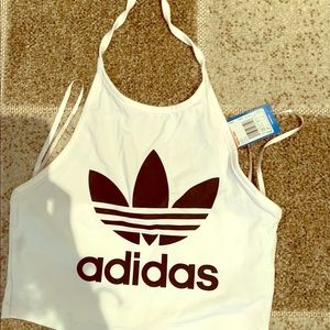 Adidas tree foil halter top. Brand new with tags.